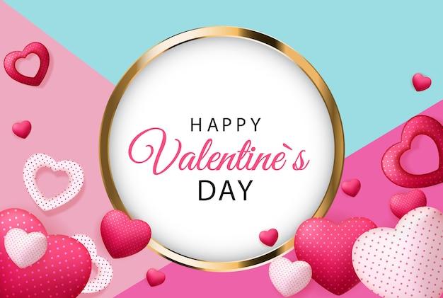 Happy valentijnsdag kaart met hart