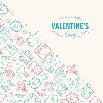 Happy valentijnsdag kaart