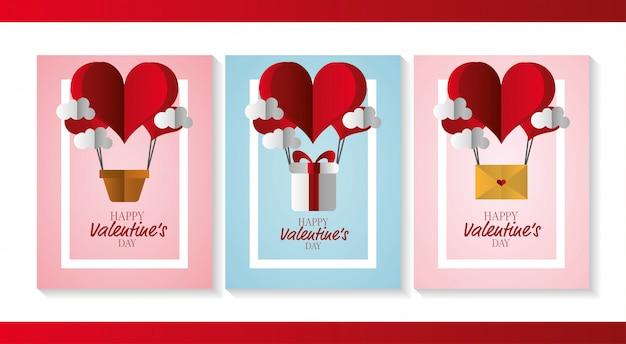 Happy valentijnsdag kaarten