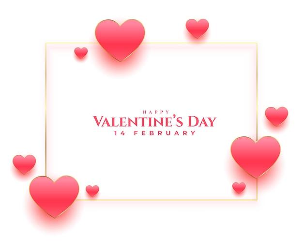 Happy valentijnsdag mooie wensen kaart ontwerp