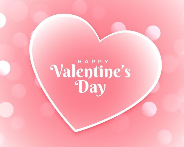 Happy valentijnsdag roze kaart ontwerp