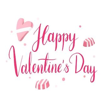 Happy valentijnsdag typografie vector