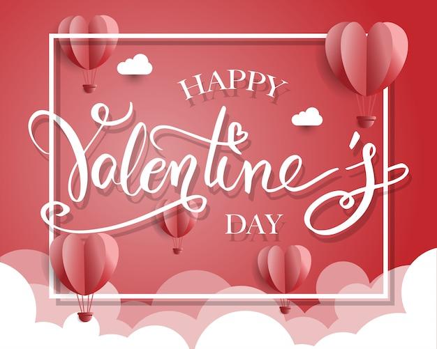 Happy valentijnsdag typografie