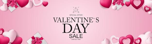 Happy valentijnsdag verkoop achtergrond.