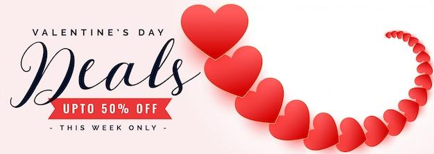 Happy valentijnsdag verkoop en deal banner