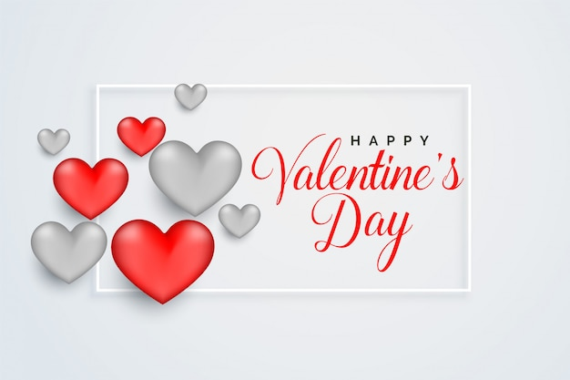 Happy valentijnsdag viering wenskaart ontwerp