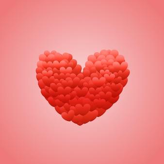 Happy valentijnsdag wensen wenskaartsjabloon. valentijnsdag vector-object
