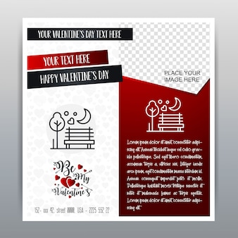 Happy Valentine's Day Red pictogram verticale banner Rode achtergrond. Vector illustratie
