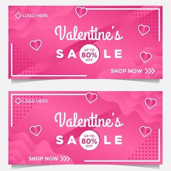 Happy valentine dag sjabloon voor spandoek