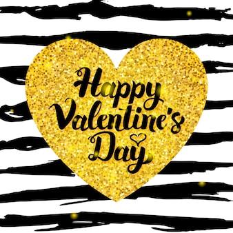 Happy valentine day hand getekende kaart. vectorillustratie van liefde groet ansichtkaart met kalligrafie.
