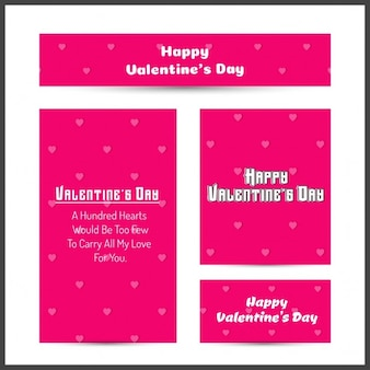 Happy valentine day pink reclame banner template