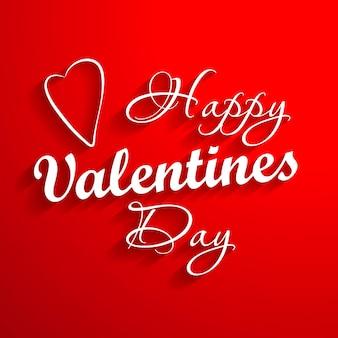 Happy valentine s dag belettering kaart. vector illustratie.