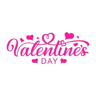 Happy valentine's day handgetekende letters. klaar vectortekst voor ontwerp. kalligrafie inscriptie.