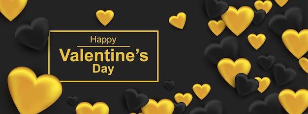 Happy valentine's day horizontale webbanner