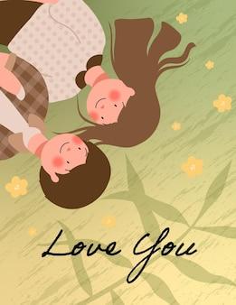 Happy valentine's day illustratie met leuk paar