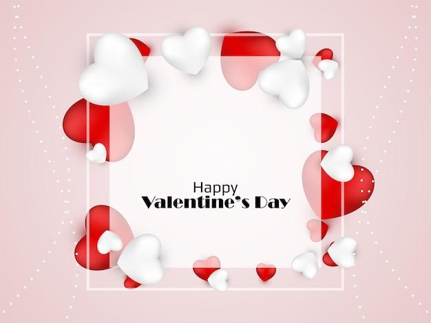 Happy valentine's day mooie achtergrond
