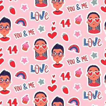 Happy valentine's day naadloze patroon
