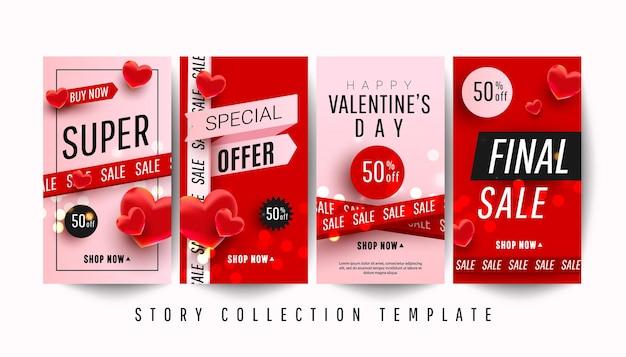 Happy valentine's day promo verhaal banner collectie