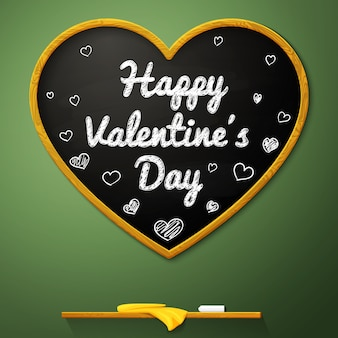 Happy valentine's day schoolbord hart