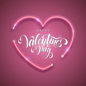 Happy valentine's day script belettering inscriptie.