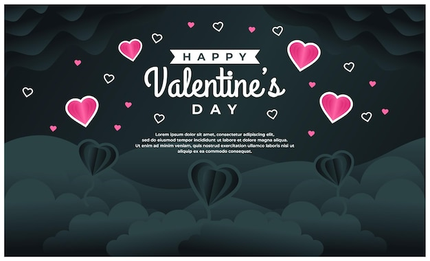 Happy valentine's day sjabloon voor spandoek