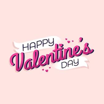 Happy valentine's day typografie