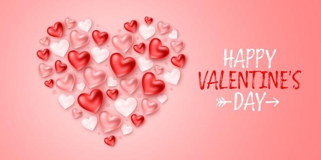 Happy valentine's day vakantie banner