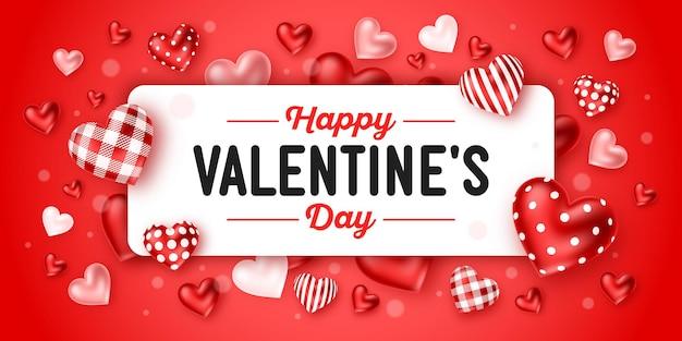 Happy valentine's day vakantie wenskaart ontwerp