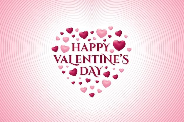 Happy valentine's day wenskaart met hart vorm