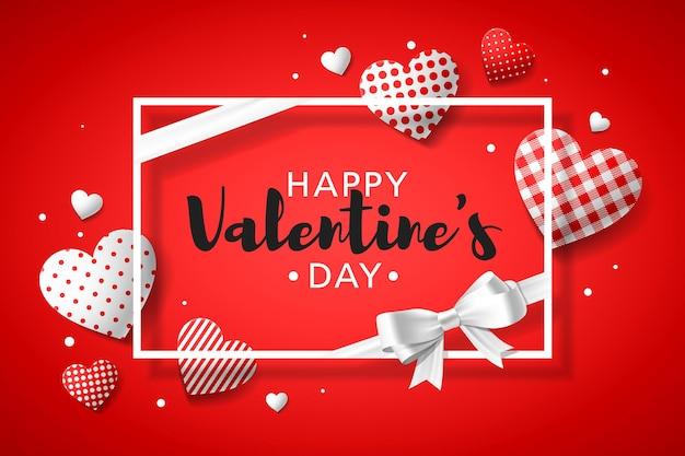 Happy valentine's day wenskaart ontwerp