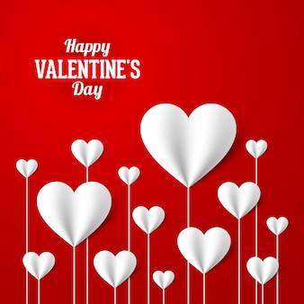 Happy valentine's day wenskaart ontwerpelement