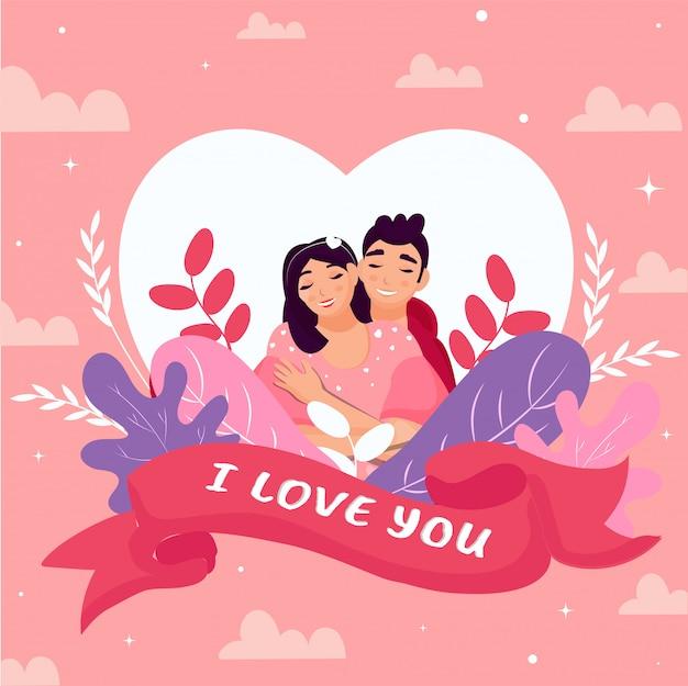 Happy valentine's day wenskaart.