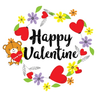 Happy valentine wenskaart