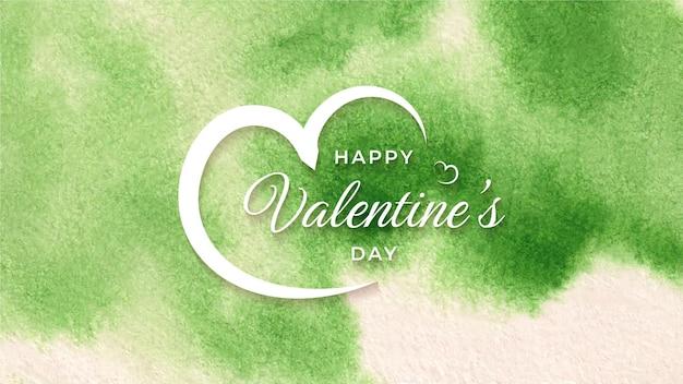 Happy valentines day aquarel modern elegant achtergrondontwerp
