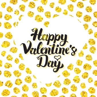 Happy valentines day hand getekende kaart. vectorillustratie van liefde groet ansichtkaart met kalligrafie.