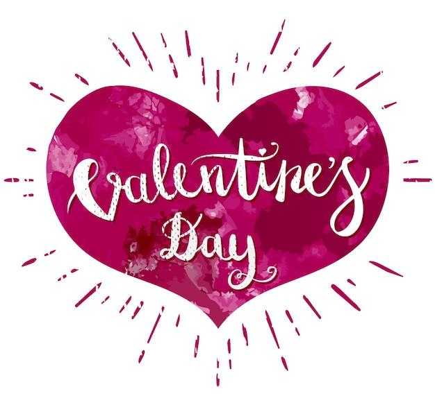 Happy valentines day hand tekening pen borstel belettering