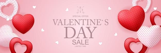 Happy valentines day sale achtergrond, poster, kaart, uitnodiging