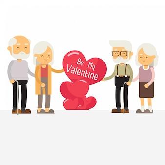 Happy valentines day sjabloon banner