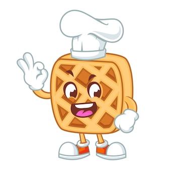 Happy waffle chef