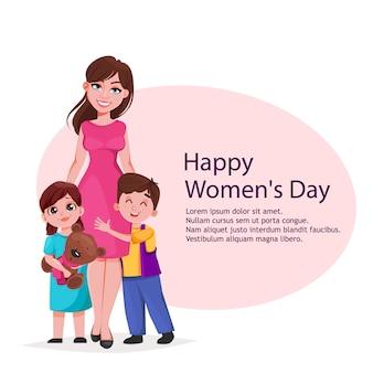 Happy women's dag wenskaart