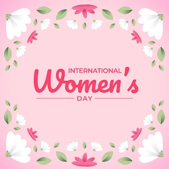 Happy women's day floral wenskaart