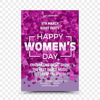 Happy women's day flyer ontwerpsjabloon