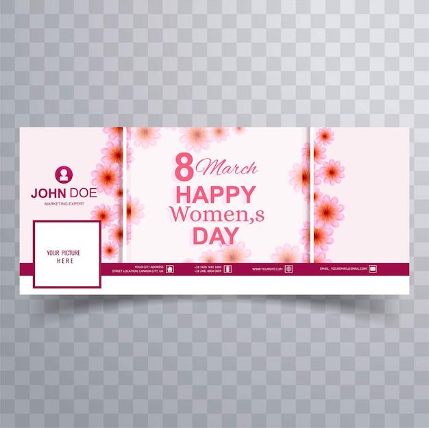 Happy women's day viering facebook omslagillustratie