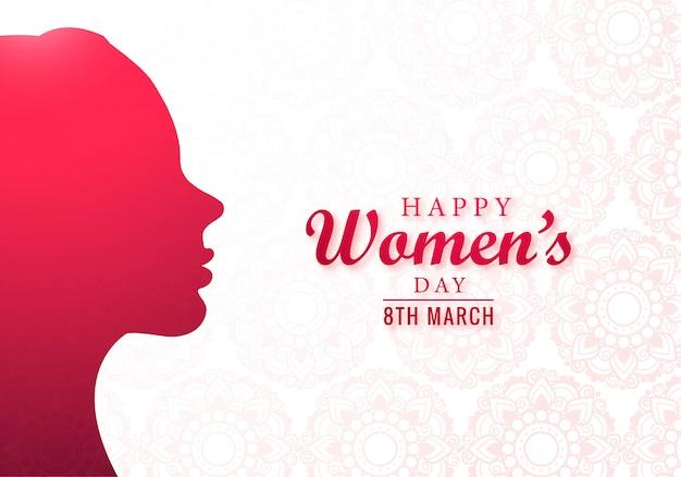 Happy women's day vieringen concept kaart ontwerp