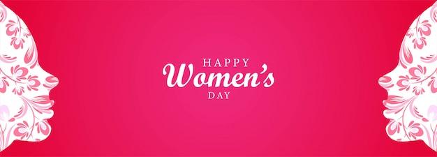 Happy women's day vrouwen gezicht