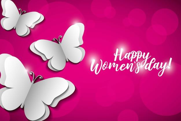 Happy womens day-kaart
