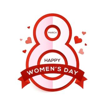Happy womens day vakantie illustratie papier knipsel meisje gezicht met roze bloemen