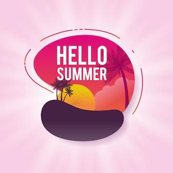 Happy zomer verkoop banners. kleurrijke vectorillustratie