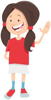 Happyteen meisje karakter cartoon afbeelding