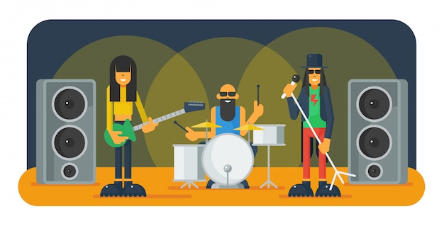 Hard rock grappige band